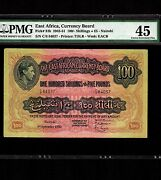 East Africa 100 Shillings Or 5 Pounds 1950 P-31b Pmg Xf 45 King George