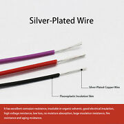 Sranded F46 Ptfe Fep Silver Plated Copper Cable Wire Seven Corlors 7/9/11/14awg