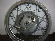 Norton Twin Leading Shoe Front Brake Plate With Original Flanged Akront Rim