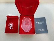 1990waterford Crystal12 Days Of Christmas Ornament7 Swans Swimmingpouchcase