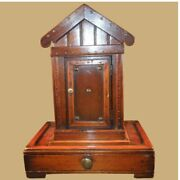 Antique Victorian Figural Outhouse Toilet Inkwell