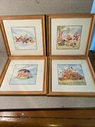 4 Disney Winnie The Pooh Framed Pictures