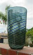 Large Murano Glass Barovier And Toso Vase 14 1/4 Tall
