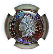 1887 Ms65 Bn Ngc Indian Head Penny Premium Quality Superb Eye Appeal