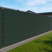 Green 480gsm 6ft Privacy Screen Fence Commercial Windscreen Mesh Cover