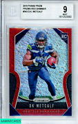 2019 Panini Prizm D.k. Metcalf 343 Prizms Red Shimmer Ssp Rookie Rc Bgs 9 Mint