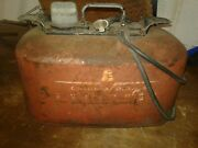 Vintage Omc Evinrude Outboard Boat Motor 2 Hose Gas Can 6 Gallon 11and039 Hose