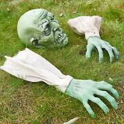 Prextex Face And Arms Of Zombie For Halloween With Nail Tent Stakes Nail Garden