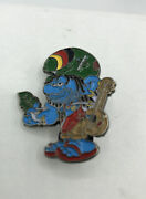 Byheads4heads Smoking Smurf 2.5andrdquo Metal And Enamel Brooch / Lapel Pin