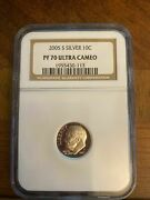 2005s Silver Dime Proof 70 Ultra Cameo