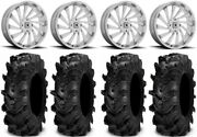 Msa Blade 18 Wheels Chrome 34 Cryptid Tires Can-am Defender
