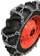 Snow Chains 12.4-28, 12.4 28 Duo Grip Tractor V-bar Tire Chains Set Of 2