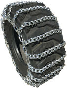 Snow Chains 13.6-16, 14-17.5 Tractor Tire Chains Set Of 2