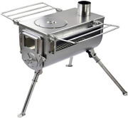 Wood Burning Tent Stove Double View Portable Medium Shelter Camping Heater Pipe