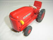 Rare 1960 About Made In Japan Tinplate Red Tractor Farm Length 16.5cm 9.5cm