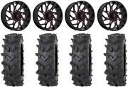 Fuel Runner 20 Wheels Red 35 Outback Maxand039d Tires Polaris Rzr Turbo S / Rs1