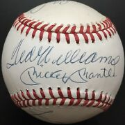 500 Home Run Club Autographed Al Ball, Mickey Mantle, Ted Williams, 11 Sig, Bas