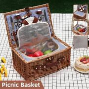 Portable Picnic Basket Insulation Rectangle Outdoor Travel Camping Accessories