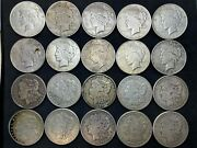 Us Morgan And Peace Silver Dollar - Roll Of 20 Coins - F/vf/xf-101921s 10peace