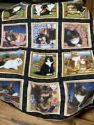 Quilted Wall Hanging Handmade Cats Beautiful Decor Art Cute Animals42andrdquox53andrdquo