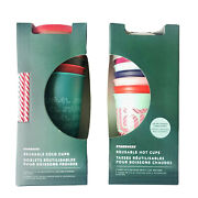 Starbucks Holiday Reusable Set Of Hot And Cold Reusable Cups New Gift Bundle