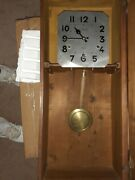 Antique Charvet Wall Clock. Triple Chime Hermle Works.- Includes Key Runs Fine