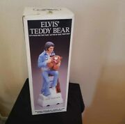 Elvis Presley Mccormick Decanter Teddy Bear Large 15 Inches Empty Rare