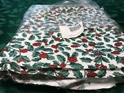 Longaberger Retired Traditional Holly Fabric 5 Yards, New