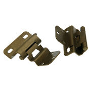 Pair Of Amerock Burnished Brass Partial Wrap 3/8 Inset Hinges Bp7565-bb