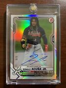 2021 Bowman The National Convention Ronald Acuna Jr. Foil Auto Card And039d 3/5
