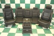 Note 14-18 Gm Truck Black Leather Heated Bucket Seats Backseat Jumpseat Console