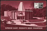 Vintage Playing Card Superior Dairy Pro Football Hall Of Fame Pic Canton Ohio