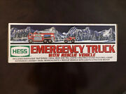2005 - Hess Truck Emergency Fire Truck With Rescue Vehicle - New In Box