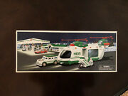 2001 Hess Truck Helicopter With Motorcycle And Cruiser New In Box