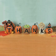 Give Thanks Thanksgiving Blocks - Home Decor - 6 Pieces -fall Decorations