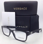 New Versace Reading Glasses Ve 3198 Gb1 55-17 140 Black And Chrome Frames Readers