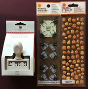 New Martha Stewart Candy Edge Paper Punch And Stickers Halloween Vhtf Rare 🍬🍬
