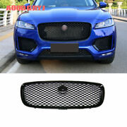 For Jaguar F-pace 2016-2020 Glossy Black Front Bumper Air Vent Grill Grille Trim