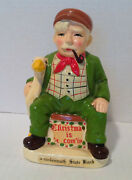 Vtg Man And Goose Frankenmuth State Bank Christmas Is Comand039in Old Coin Bank Ceramic