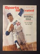 Sandy Koufax Los Angeles Dodgers 1964 Sports Illustrated No Label Newsstand