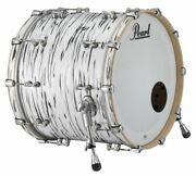 Pearl Music City Custom Reference Pure 22x20 Bass Drum W/ Mount Black N White Oy