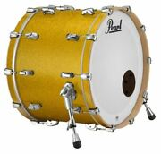 Pearl Music City Custom Reference Pure 24x18 Bass Drum W/ Mount Vintage Gold Spa