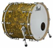 Pearl Music City Custom Reference Pure 24x18 Bass Drum W/ Mount Golden Yellow Ab