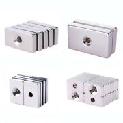 Rare Earth Diy Industrial Neodymium Rectangle Super Strong Magnet With Hole N35