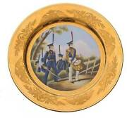 Russian Imperial Porcelain Military Dish Meissen
