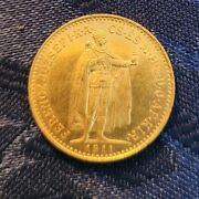 Authentic Hungary 1911 Gold Coin 10 Korona 900/1000 Gold Weight 3.387 Grams