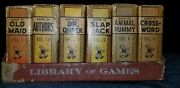 Vintage Russell Library Of Games Mini Cards Old Maid Slap Jack Rummy Dr Quack