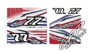 Racing Kart Qrc Outlaw Dirt Wrap Numbers - Disstressed Usa Flag
