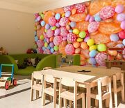 3d Fruit Candy Zhu380 Wallpaper Wall Mural Removable Self-adhesive Zoe