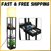 Floor Lamp With Shelves Modern Shelf Style Floor Lamps For Living Room And Bed